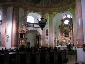 Zentraler Raum der Dreifaltigkeitskirche Kappl